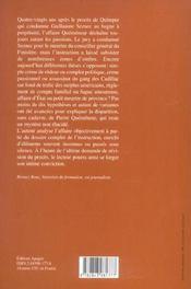 L'Affaire Quemeneur-Seznec - 4ème de couverture - Format classique