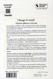 Changer le social ? - 4ème de couverture - Format classique