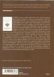 Études sur le café ; 1764-1766, un périodique des lumières - 4ème de couverture - Format classique