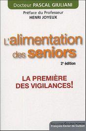 L'alimentation des seniors (2e édition) - Intérieur - Format classique