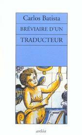 Breviaire D'Un Traducteur - Intérieur - Format classique