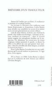 Breviaire D'Un Traducteur - 4ème de couverture - Format classique