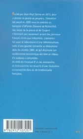 Libération ; de Sartre à Rothschild - 4ème de couverture - Format classique