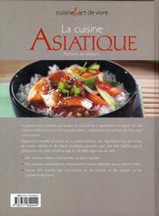 Asie ; manger et vivre - 4ème de couverture - Format classique