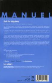 Droit des obligations (12e édition) - 4ème de couverture - Format classique