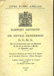 Rapport Definitif - Couverture - Format classique