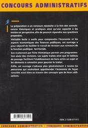 Les Epreuves D'Economie Concours Administratifs Fonction Publique Categories A Et B - 4ème de couverture - Format classique