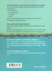 Anglais Le Dico-Verbes 600 Verbes Classes Par Themes Et En Contexte - 4ème de couverture - Format classique