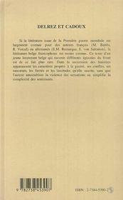 Delrez Et Cadoux - 4ème de couverture - Format classique