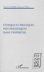 Ethique Et Pratiques Psychologiques Dans L'Expertise - Intérieur - Format classique