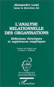 L'analyse relationnelle des organisations - Intérieur - Format classique