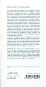 La Route De San Romano - 4ème de couverture - Format classique
