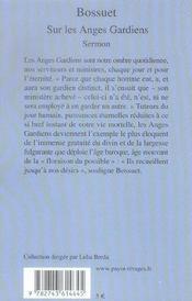 Sur Les Anges Gardiens - 4ème de couverture - Format classique