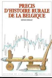 Precis d'histoire rurale de la belgique - Couverture - Format classique
