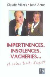 Impertinences Insolences Vacheries... - Intérieur - Format classique