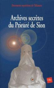 Archives secrètes du prieuré de sion - Couverture - Format classique