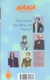 Nana t.7; fan book - 4ème de couverture - Format classique