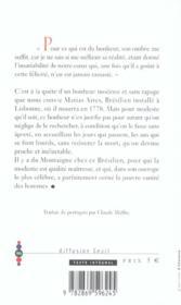 Lettre Sur Le Bonheur - 4ème de couverture - Format classique