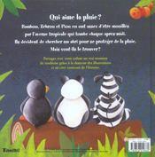 Qui Aime La Pluie ? - 4ème de couverture - Format classique