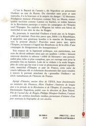 Le maréchal oudinot - 4ème de couverture - Format classique
