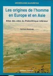 L'origine de l'homme en europe et en asie - Couverture - Format classique