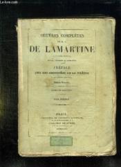 Oeuvres Completes De Ma De Lamartine. Tome 1. - Couverture - Format classique
