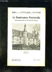 La Renaissance Provinciale N° 103 Aout Septembre Octobre 1953. Nevers Palais Ducal. - Couverture - Format classique