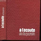 A L'Ecoute De La Parole - Couverture - Format classique
