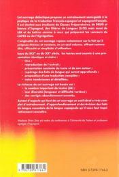 Espagnol Entrainement Au Theme Et A La Version - 4ème de couverture - Format classique