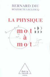 La Physique Mot A Mot - Intérieur - Format classique