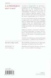 La Physique Mot A Mot - 4ème de couverture - Format classique