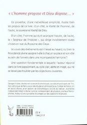 Cours Des Evenements Hasard Ou Providence - 4ème de couverture - Format classique