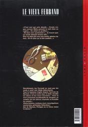 Le vieux Ferrand t.2 ; la tournée du facteur - 4ème de couverture - Format classique