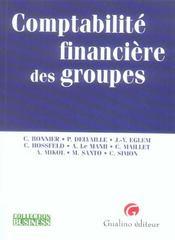 Comptabilité financière des groupes - Intérieur - Format classique