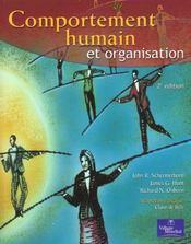Comportement Humain Et Organisation - Intérieur - Format classique