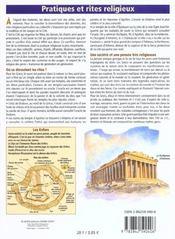 La mythologie - 4ème de couverture - Format classique