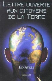 Lettre Ouverte Aux Citoyens De La Terre - Intérieur - Format classique
