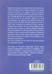 France ; la fin d'une influence - 4ème de couverture - Format classique