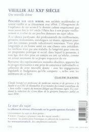 Vieillir Au Xxi Siecle ; Une Nouvelle Donne - 4ème de couverture - Format classique