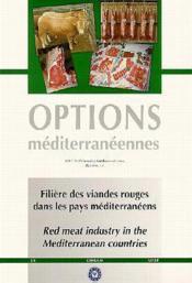 Filiere des viandes rouges dans les pays me - Couverture - Format classique