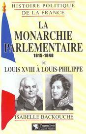 La Monarchie Parlementaire - Intérieur - Format classique