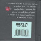 Petit Livre Du Jardinage - 4ème de couverture - Format classique