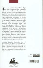 Arbre Sans Vent - 4ème de couverture - Format classique