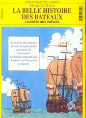 La Belle Histoire Des Bateaux - 4ème de couverture - Format classique