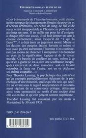 Haine De Soi - 4ème de couverture - Format classique