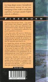 Firestorm - 4ème de couverture - Format classique