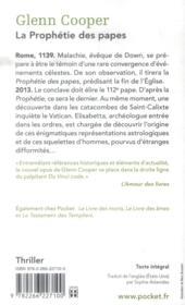 La prophétie des papes - 4ème de couverture - Format classique