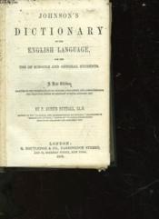 Johnson'S Dictionary Of The English Language - Couverture - Format classique