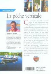 Tout Savoir Sur La Peche Verticale - 4ème de couverture - Format classique