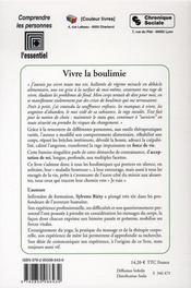 Vivre la boulimie - 4ème de couverture - Format classique